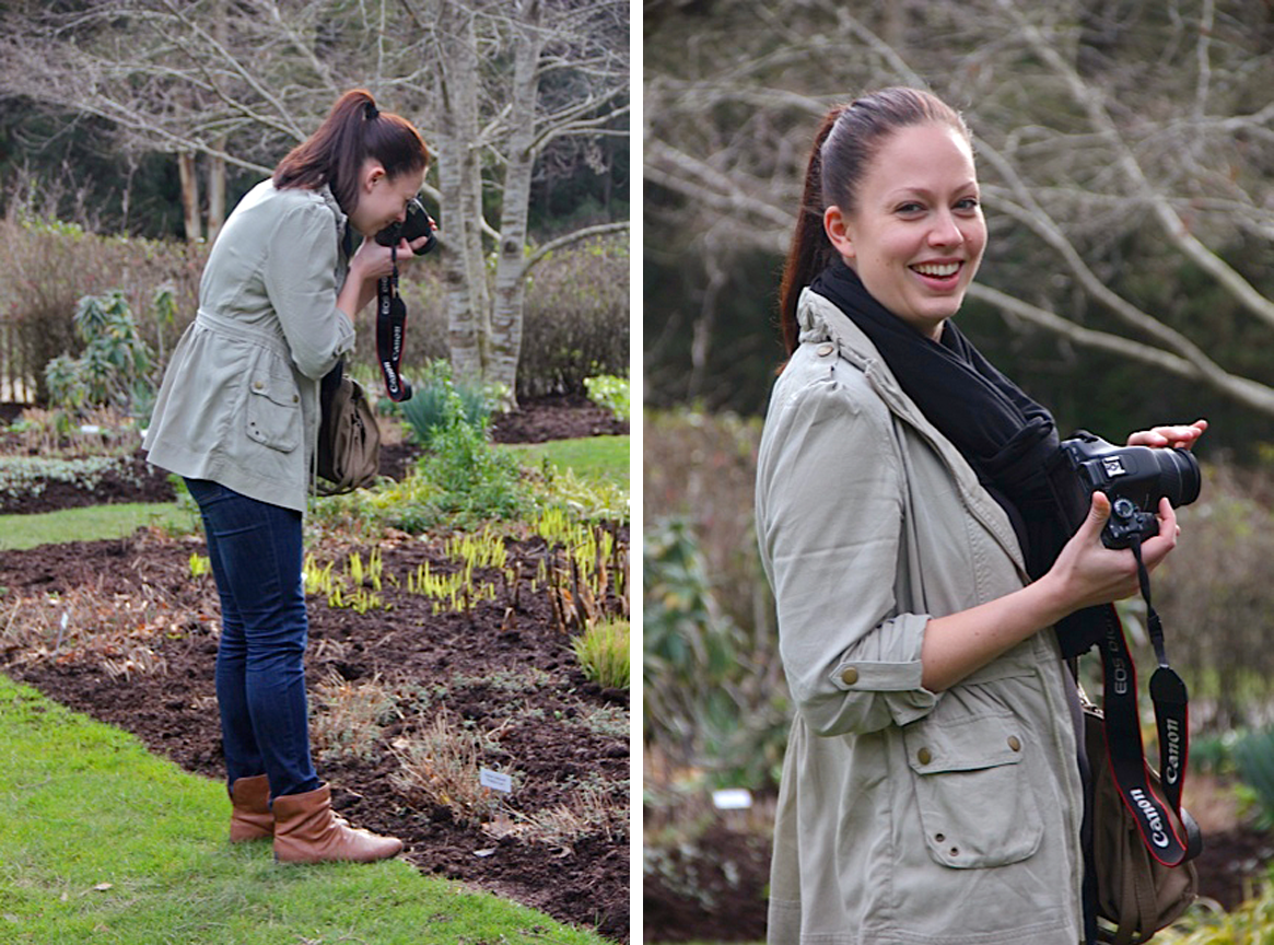 Our Design Manager, Bethany taking some plant photos at the Garden of St Erth.