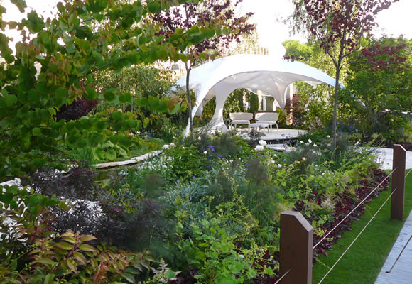 'The Endeavour Garden' Landscape Design by Ian Barker for the 2013 RHS Chelsea Flower Show in London.