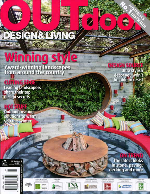 The cover of Outdoor Design & Living magazine issue 29, which features  'Left overs