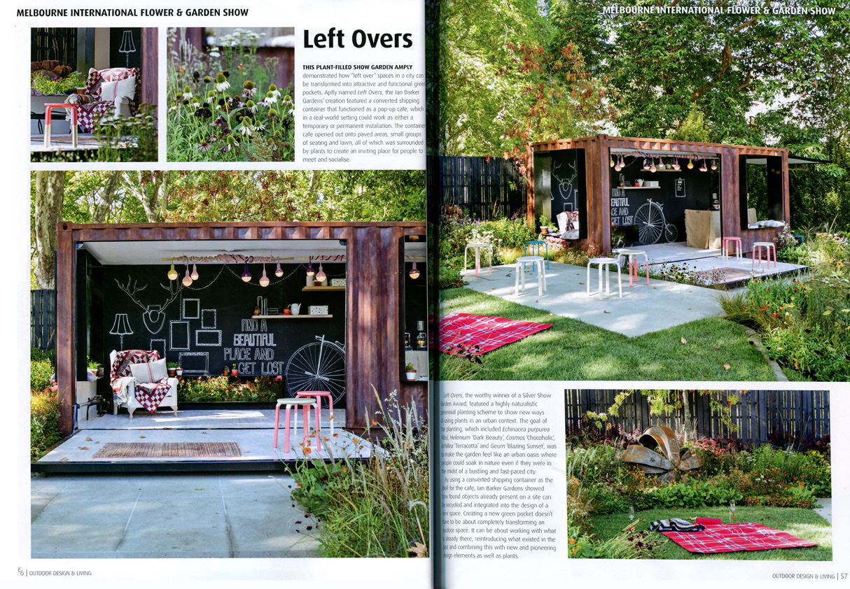 garden design magazine. Spread In Outdoor Design \u0026 Living Magazine Issue 29, Featuring \u0027Left Overs\u0027 Designed Garden P