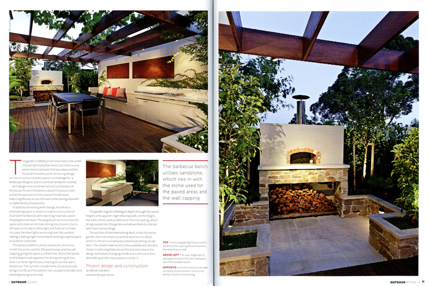 U0027Made For Entertainingu0027 In Outdoor Rooms Magazine Showcases This Space  Saving Design By Ian