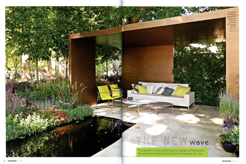 Outdoor Rooms Magazine Features The Ian Barker Gardens 2013 MIFGS Garden  U0027The New Waveu0027