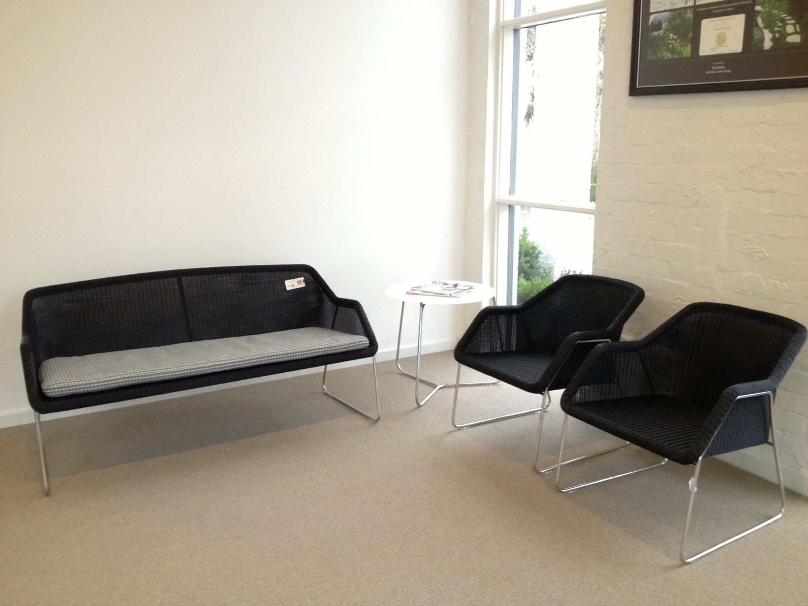 Mood 2 Seat Sofa Easy Chairs and Mood Round Coffee table from