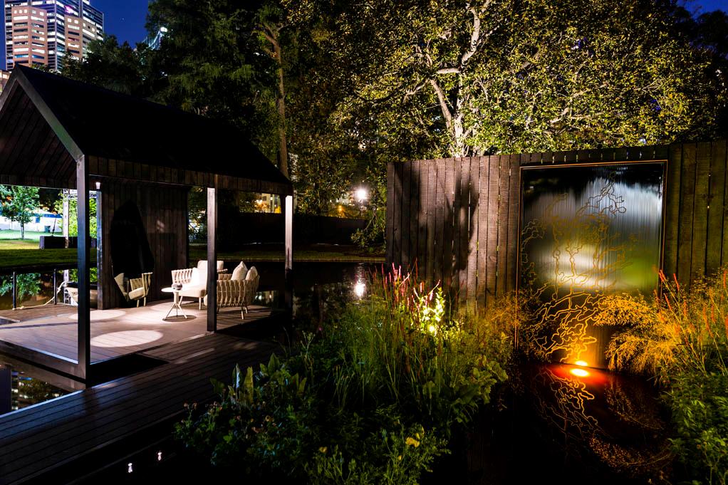 Ian Barker Gardens_Melbourne International Flower & Garden Show 2016_Patrick Redmond Photography_Reflection Garden by Night