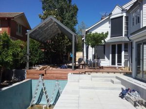 Ian Barker Gardens. Canterbury Project. Garden Design. Pool area
