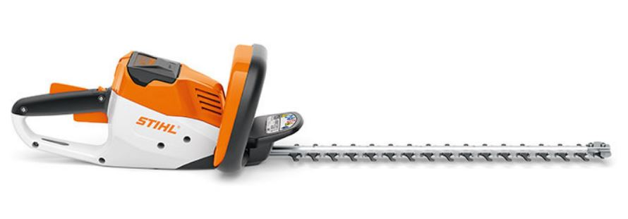 Battery hedge trimmer by Stihl, featured in Garden Notebook, by Ian Barker Gardens. Garden design
