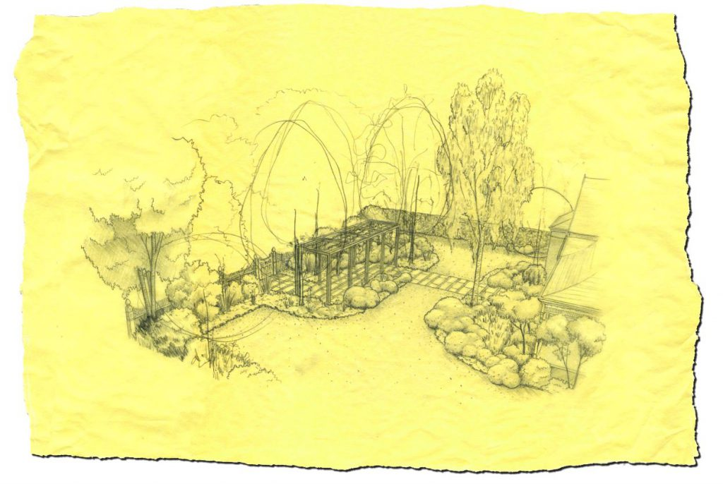 Armadale garden design project by Ian Barker Gardens