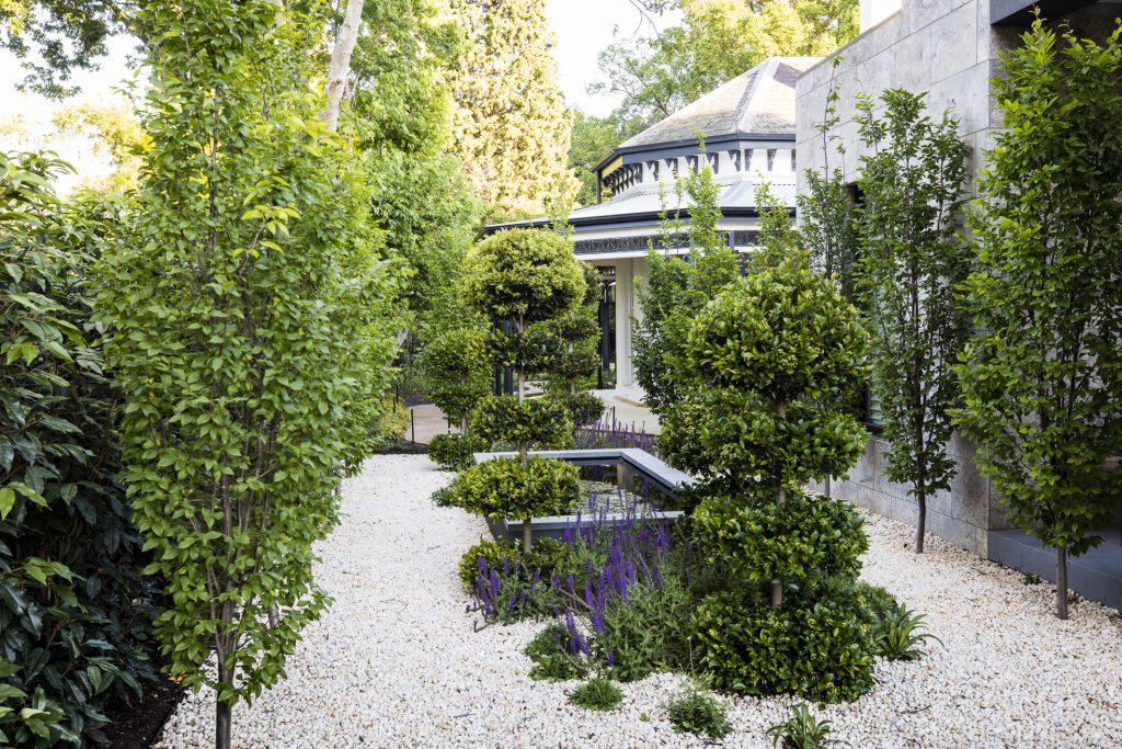 Classic formal garden design by Ian Barker Gardens at Deepdene project