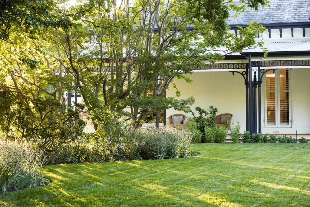 Informal front garden design by Ian Barker Gardens at Deepdene project