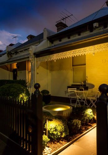 Garden design lighting by Ian Barker Gardens