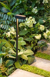 Path lights used for garden designs, featured by Ian Barker Gardens